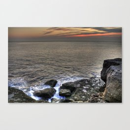 Froth and Rock Canvas Print