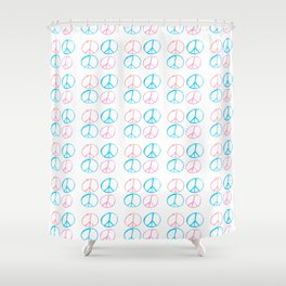 Peace and love-anti-war,pacifist, pacifism,hippies,paz,love,heart, Shower Curtain