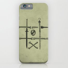 Noughts & Crossbones iPhone Case