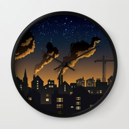 Industrial Town Wall Clock