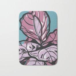 Pastel Fiddle Leaf Fig Bath Mat