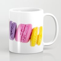 macaroons Mugs featuring MacaroonS Colorful by Whimsy Romance & Fun