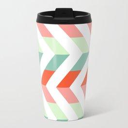 Chevron Raspberry and Peach - Geometric pattern  Travel Mug