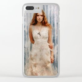 The Mysterious Redhead Gypsy Woman Clear iPhone Case