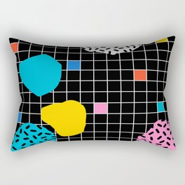 Couch Potato - memphis retro grid minimal trendy 80s throwback retro vibes 1980's style Rectangular Pillow