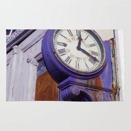 Old Clock at Train Station Rug