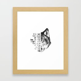 the fight in the dog Framed Art Print