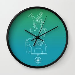 Animal Menagerie Wall Clock