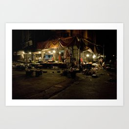 Damascus night market during Ramadan Art Print