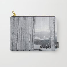 Snow Landscape Through Ice Carry-All Pouch