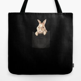 Bunny in Pocket Tote Bag