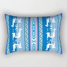 Llamas_Pink and BlueSky Rectangular Pillow