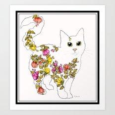 Blossom Cat Art Print