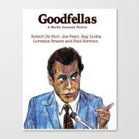 goodfellas Canvas Prints featuring GoodFellas by AdrockHoward