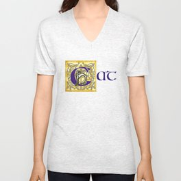 C is for Cat Unisex V-Neck