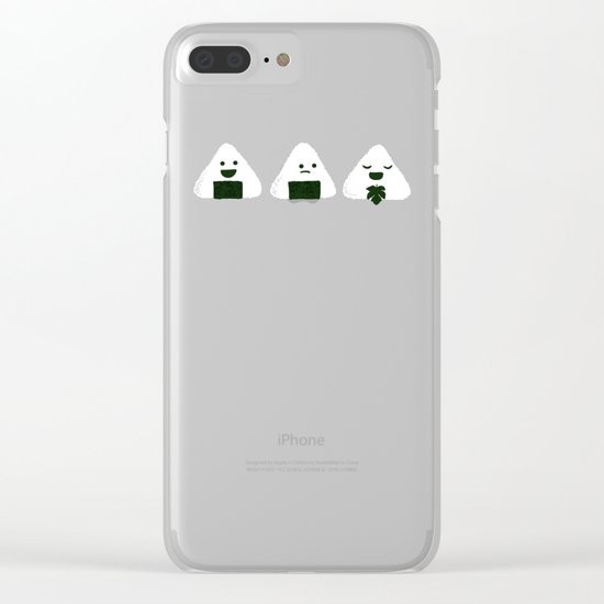 Nude Onigiri Clear iPhone Case