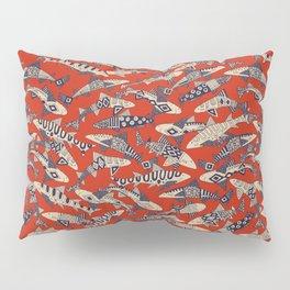 shark party red Pillow Sham