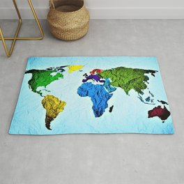 Map of the World in Color by Jeanpaul Ferro Rug