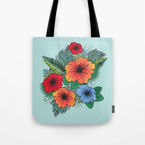 Hawaiian Flowers Tote Bag