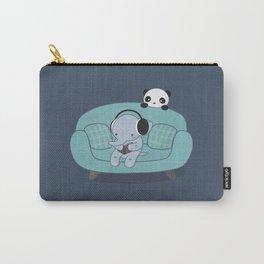 Kawaii Elephant And Panda Carry-All Pouch