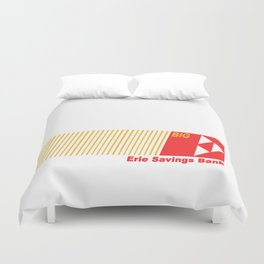 Erie Savings Bank (Red) Duvet Cover