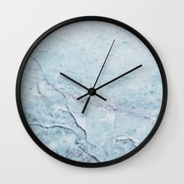 Light Blue Marble Wall Clock