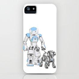 The Dog Walker. (Blue) iPhone Case