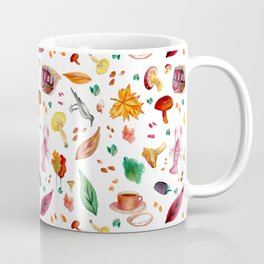 Swedish Fall Autumn Watercolor Pattern Coffee Mug