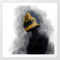 durarara Art Prints featuring Celty by notneds