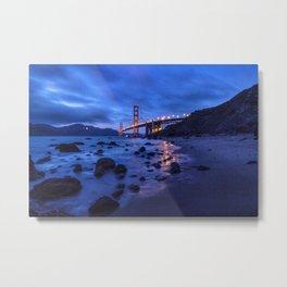 Golden Gate Bridge During Blue Hour Metal Print