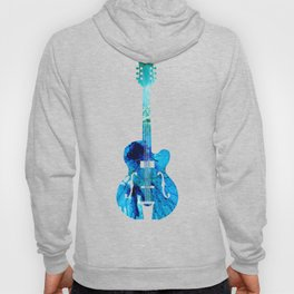 Vintage Guitar 2 - Colorful Abstract Musical Instrument Hoody