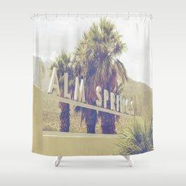 Palm Springs Sign California Print Shower Curtain