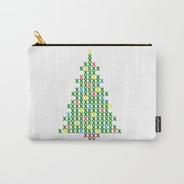 Cross Stitch Christmas Tree Carry-All Pouch