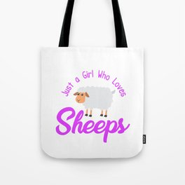 Just A Girl Who Loves Sheeps Hoodie Tote Bag