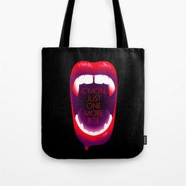 One More Bite (Black) Tote Bag