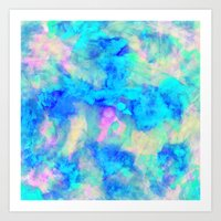 micklyn Art Prints featuring Electrify Ice Blue by Amy Sia
