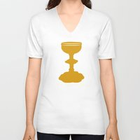 indiana jones V-neck T-shirts featuring Indiana Jones - You Choose Poorly by Swell Dame