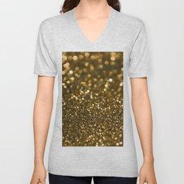 Gold Sparkle Pattern Unisex V-Neck