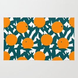 Art Deco Minimalist Orange Grove Rug