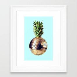 Ananas party (pineapple) blue version Framed Art Print