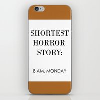 horror iPhone & iPod Skins featuring Horror by MrWhite