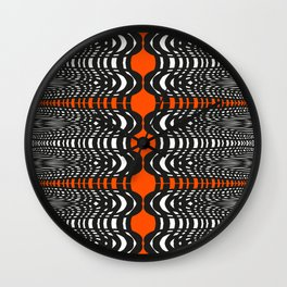 Black and Orange Illustion Wall Clock
