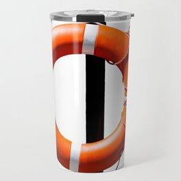 Orange live saving ring Travel Mug