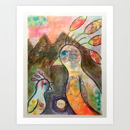 Love Birds Art Print