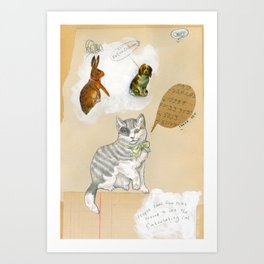 Calculating Cat Art Print