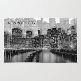 MANHATTAN Skyline   Graphic Art   white Rug