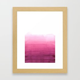 Dip dye in magenta Framed Art Print