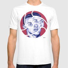 THIAGO Mens Fitted Tee White SMALL