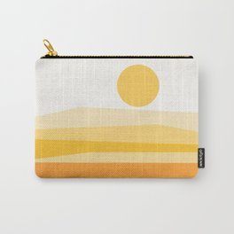 Abstract Landscape 09 Yellow Carry-All Pouch