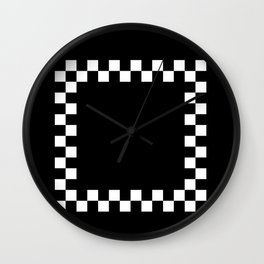 2 TONE BLACK AND WHITE Wall Clock